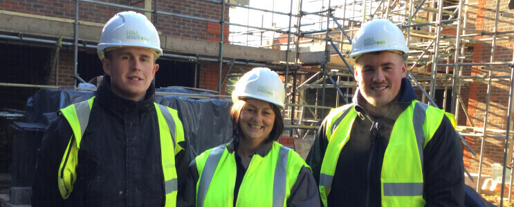 Joe, Emma and supervisor Josh from H&L Construction Solutions Ltd